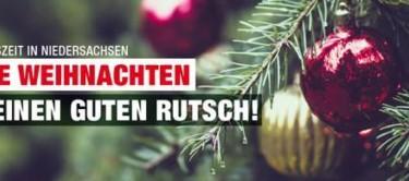 Frohe Weihnachten und einen Guten Rutsch ins Neue Jahr wünscht die SPD Garbsen