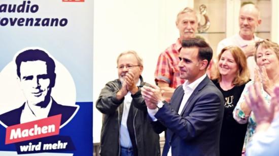 Claudio Provenzano auf der Wahlparty