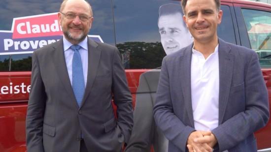 Martin Schulz und Claudio Provenzano