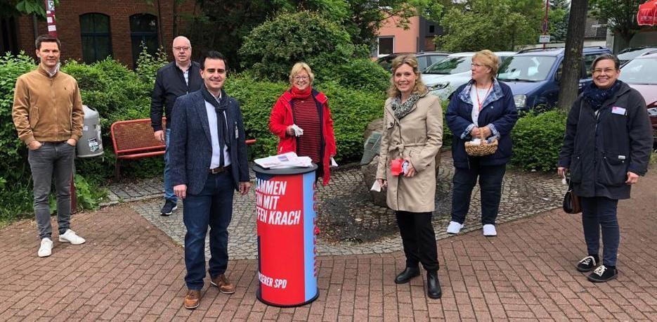 Infostand der SPD Berenbostel/Stehlingewn